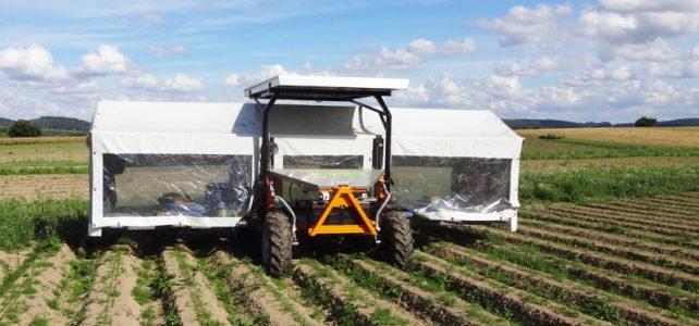 Jäte- und Ernteflieger mit Photovoltaikanlage